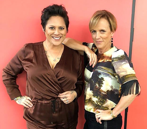 Hilary had a blast with Anika Moa when the singer filled in for Jeremy Wells *Seven Sharp*.