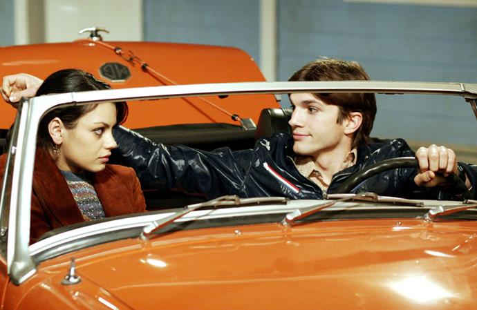 Mila and Ashton starred in *That 70's Show* together.
