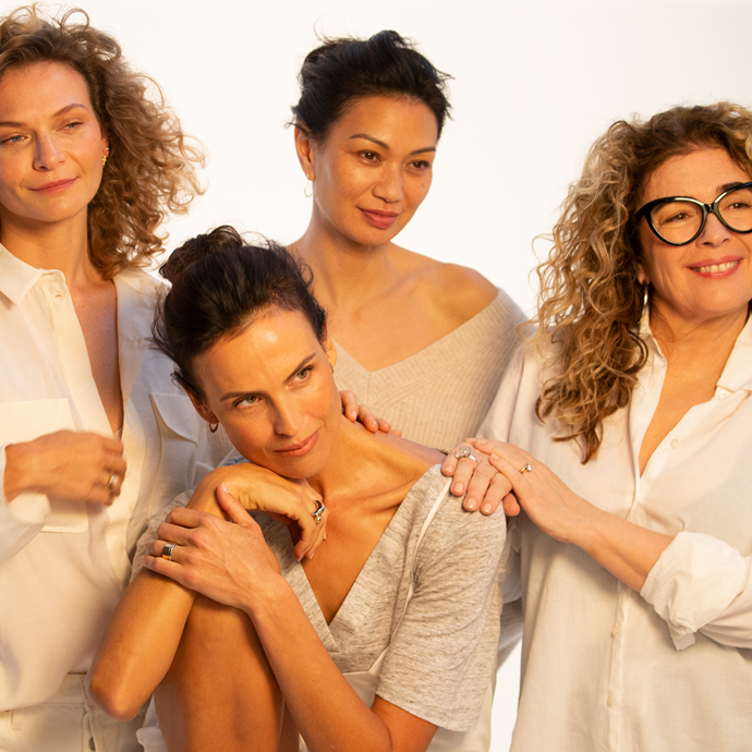 Behind the scenes of Trilogy's incredible Look Forward campaign. Along with Boh Runga,  *Wentworth* actress Leeanna Walsman, model and wellness contributor Abigail O'Neill and creative Scarlett Vespa are on board with the campaign.