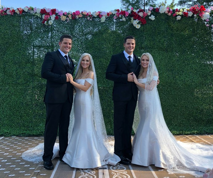 What happens when identical twin sisters marry identical twin brothers? You get double the love, of course!