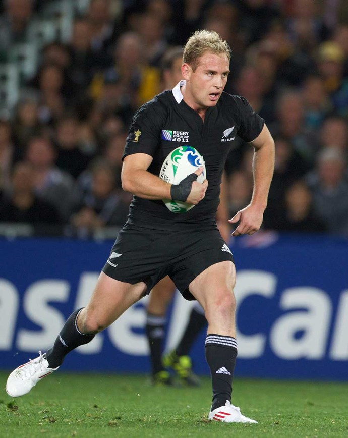 Grass roots: In action during the Rugby World Cup final at Eden Park in 2011.