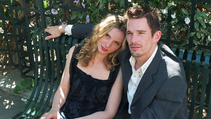 Ethan and Julie Delpy in *Before Sunset.*