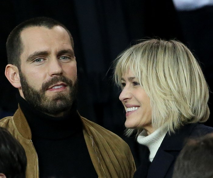 Robin Wright marries her French beau in a très chic secret ceremony