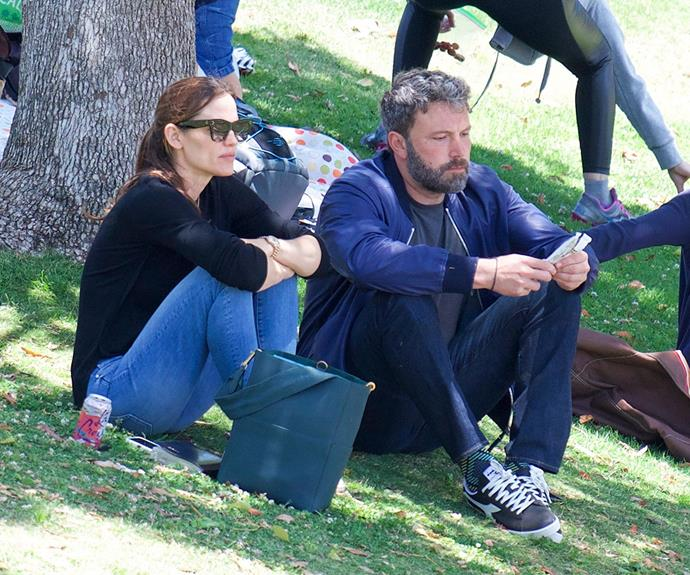 This image of the divorced pair was taken in June at a park in Los Angeles.