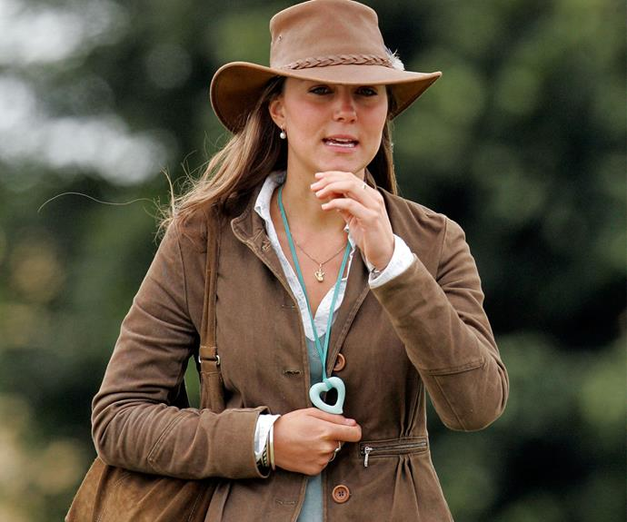 Kate gave us Outback vibes when she attended the Festival of British Eventing in August, 2005.