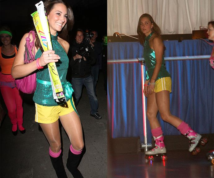Kate looked like she had a lot of fun at a charity roller disco in 2008! In fact, she had so much fun she ended up falling over on the night.