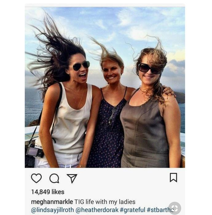 Meghan loved nothing more than trips with her best girlfriends.