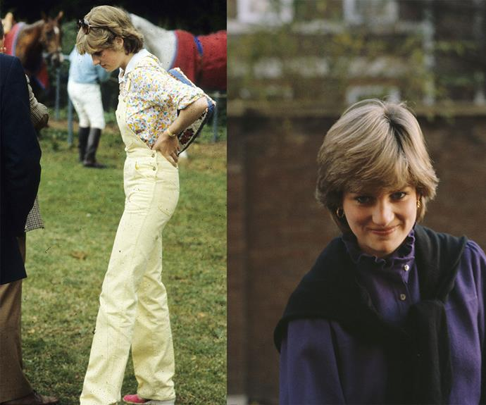 Diana looked radiant (as always) during the early 80s. We're loving her yellow jeans!