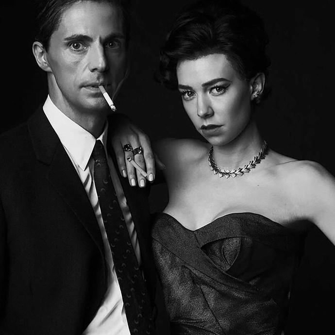 Vanessa and Matthew Goode as Princess Margaret and Tony Armstrong-Jones