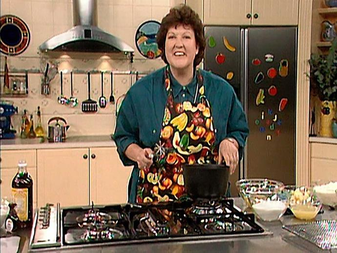 Jo as a TV cook