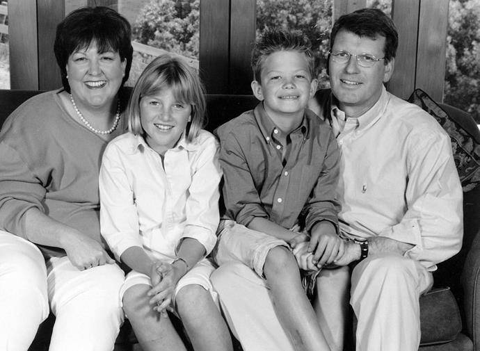 The Seagars in 2000 with children Kate and Guy.