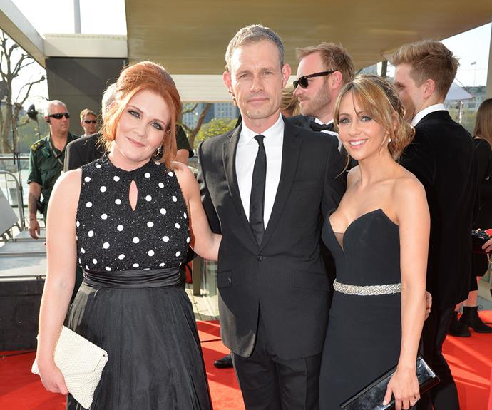 Ben Price is pictured here with castmates Jenny McAlpine and Samia Ghadie.