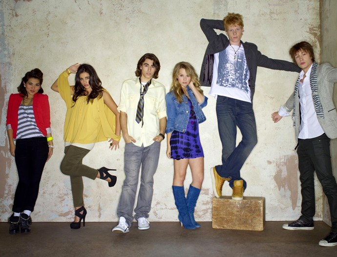 Naomi, second from left, with her *Lemonade Mouth* co-stars.
