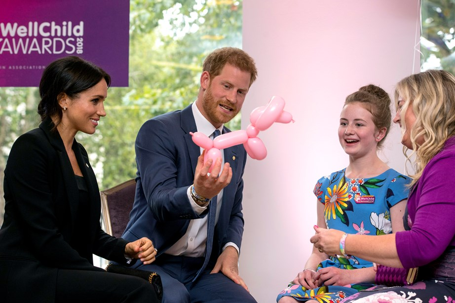 Meghan and Harry attending the WellChild Awards in September 2018. *(Image: Getty)*
