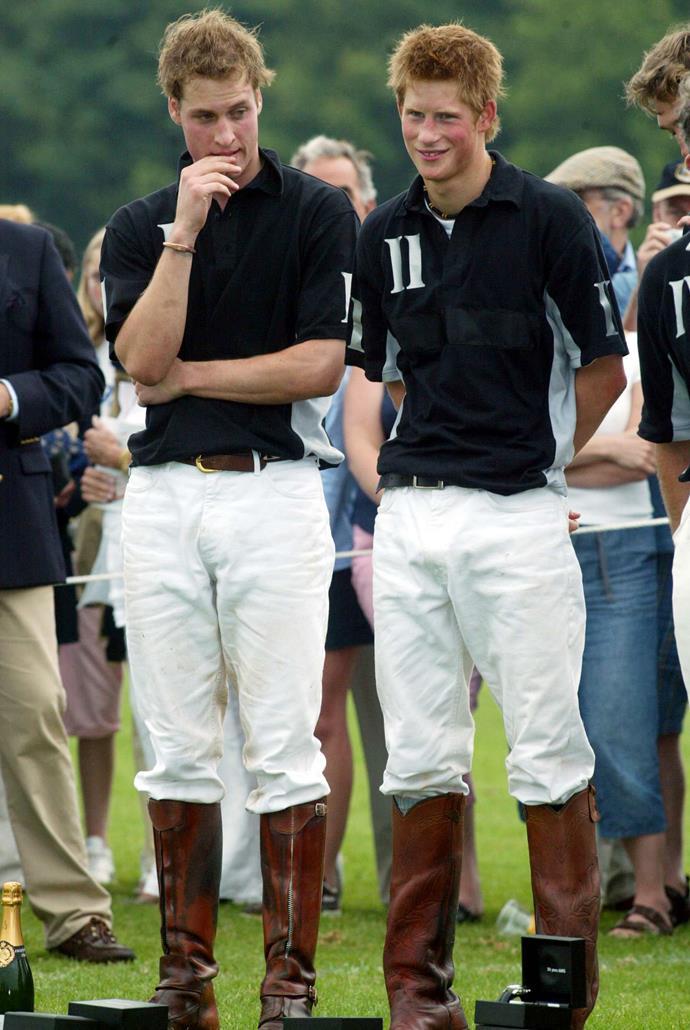 The royal pair at the polo.