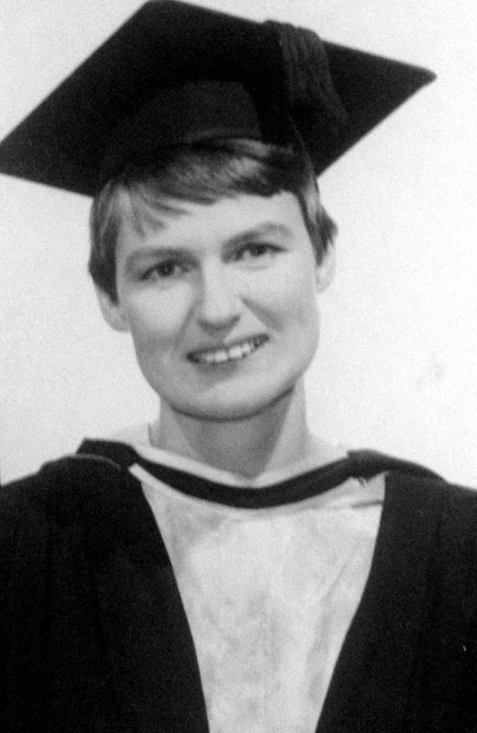 Anne Else graduating in 1966