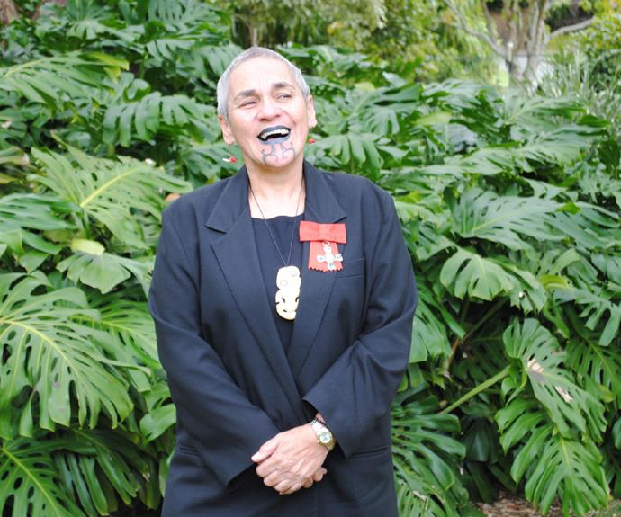 Ngahuia Te Awekotuku in 2010, after her investiture as MNZM for services to Māori culture.