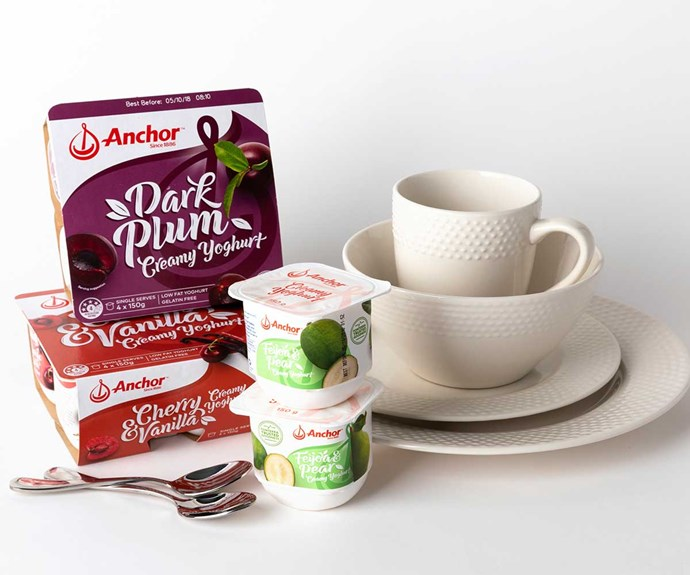 Win a five week's supply of Anchor's Artisan yoghurts and a beautiful breakfast set for four