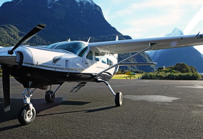 An Air Milford scenic flight provides a unique way to access Milford Sound.