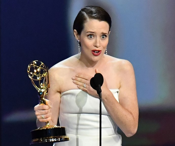 Congratulations to Claire Foy who has just won outstanding lead actress in a drama series at the Emmys!