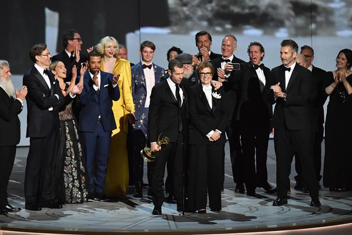 The Game of Thrones cast are jubilant over winning Outtstanding Drama Series