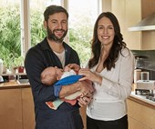 Clarke Gayford on staying at home with baby Neve while her mum runs the country