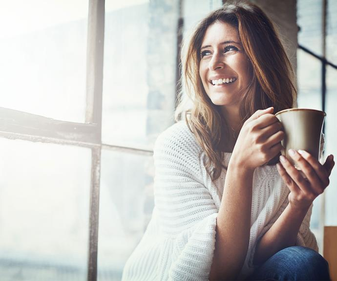 Focus on the task at hand and avoid thinking stressful thoughts. Why not sip your coffee and savour the flavour rather than letting your mind wander to negative thoughts?