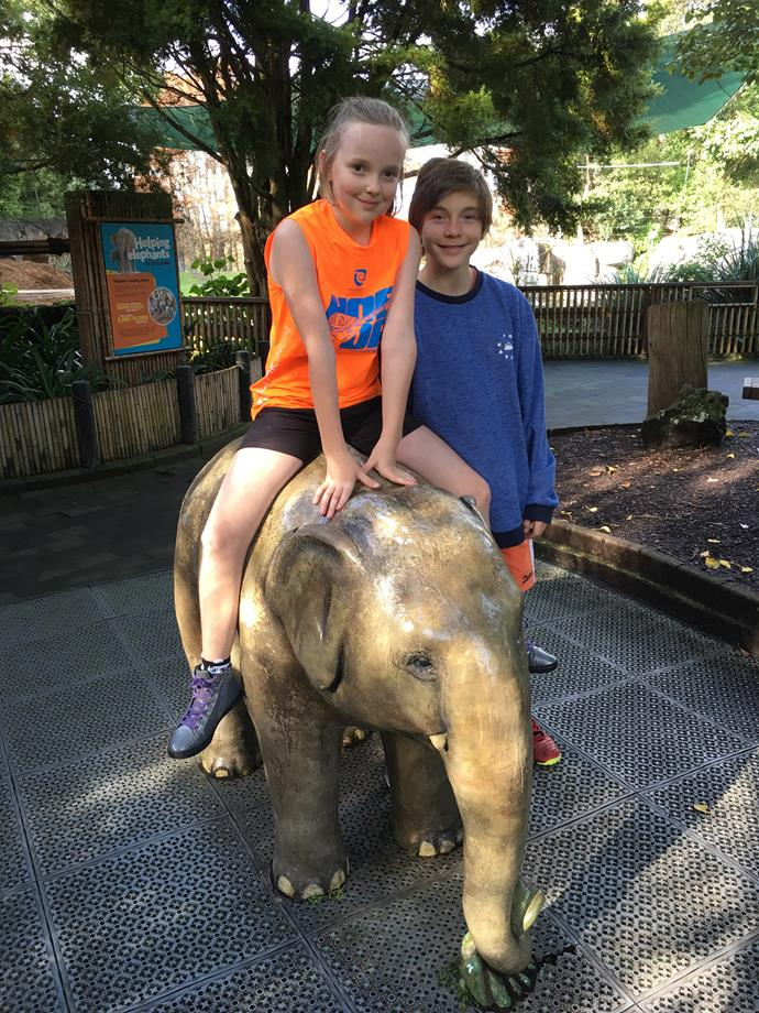Olive-Rose and Jean-Luc on a visit to Auckland Zoo in July this year.