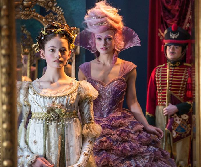 In Disney's version of *The Nutcracker*, Clara, played by up-and-coming Mackenzie Foy, is a 14-year-old girl who loves science and engineering.