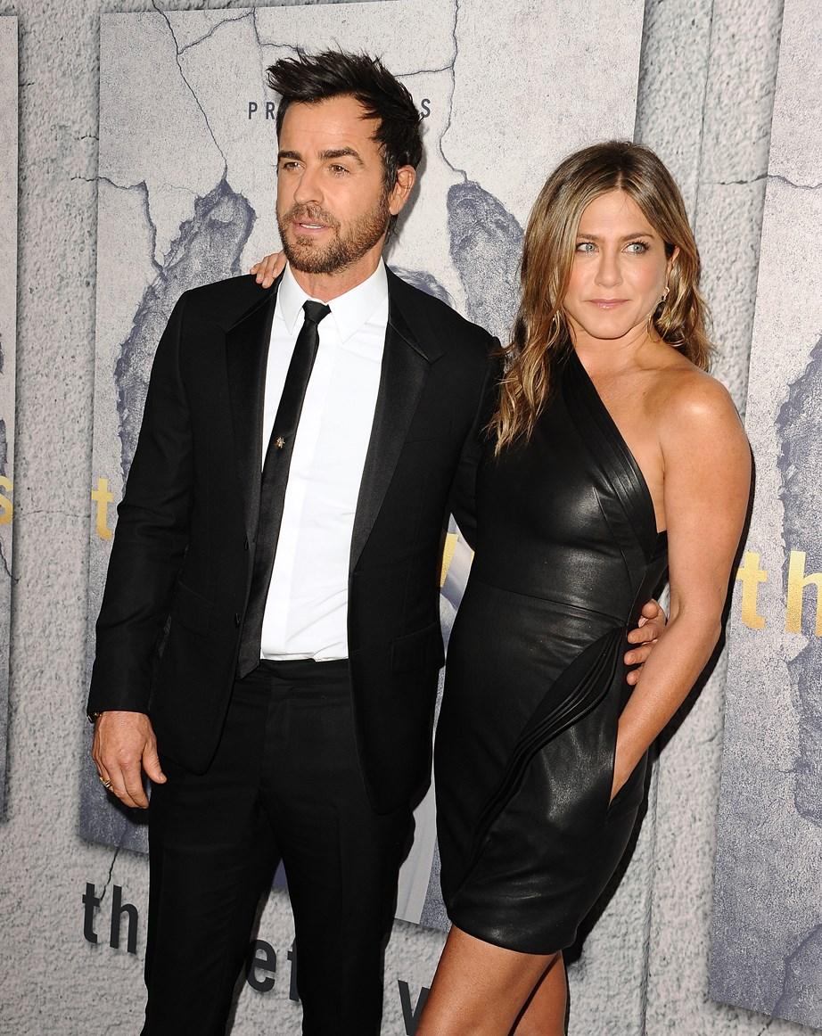 Jen and her ex-husband Justin Theroux, the couple split in 2017. *(Image: Getty)*