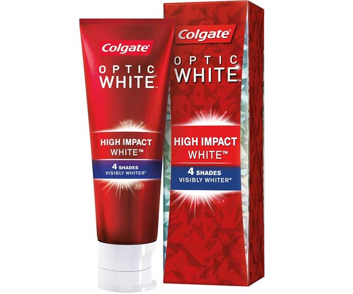 "Get your smile race-day-ready in 2018 with Colgate Optic White. Visit [colgateopticwhite.com.au](https://www.colgate.com.au/products/optic-white|target=""_blank""