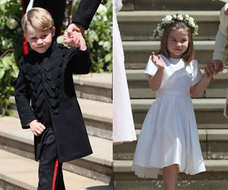 Prince George and Princess Charlotte were in the bridal party at a friend's wedding and melted hearts