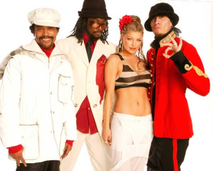 Will with his Black Eyed Peas band mates.