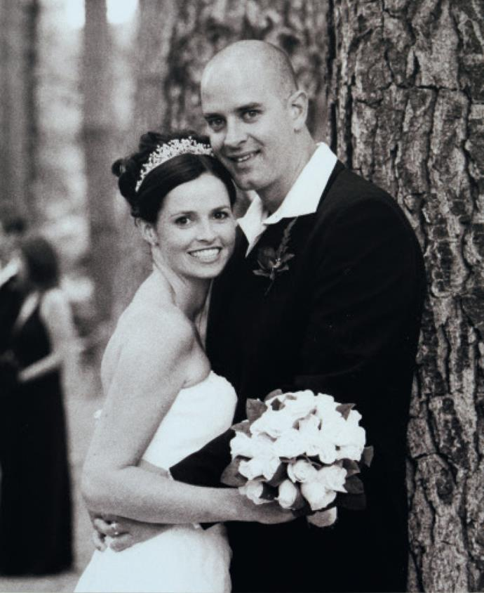 Megan and Paul on their wedding day