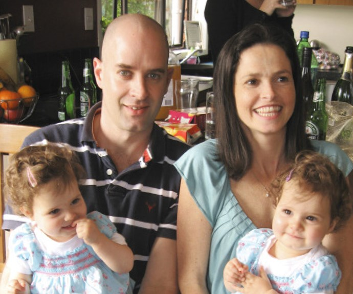 Paul and Megan with their twin daughters Alexandra and Paige