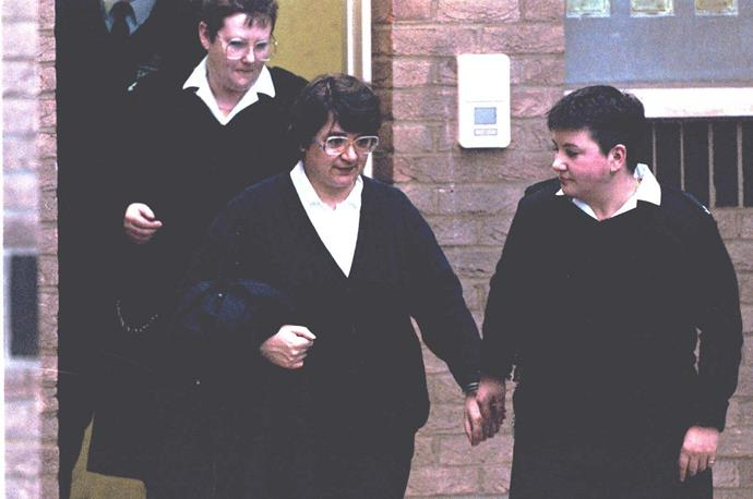 Rosemary West after appearing at Gloucester Magistrates Court in early 1995.
