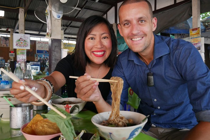 Husband-and-wife team Thomas and Sheena Southam created Chasing a Plate to share their love of travel and food.