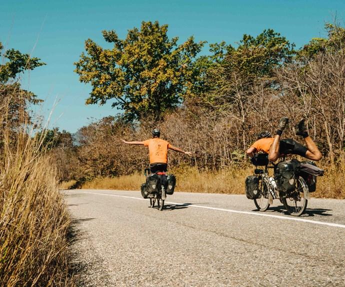 The Big Bike Trip boys in Nepal.