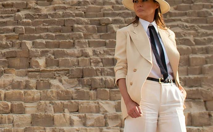 Melania Trump and the Raiders of the Lost Ark dress code