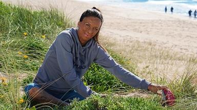Turia Pitt is returning to competitive running one year after the birth of her baby boy