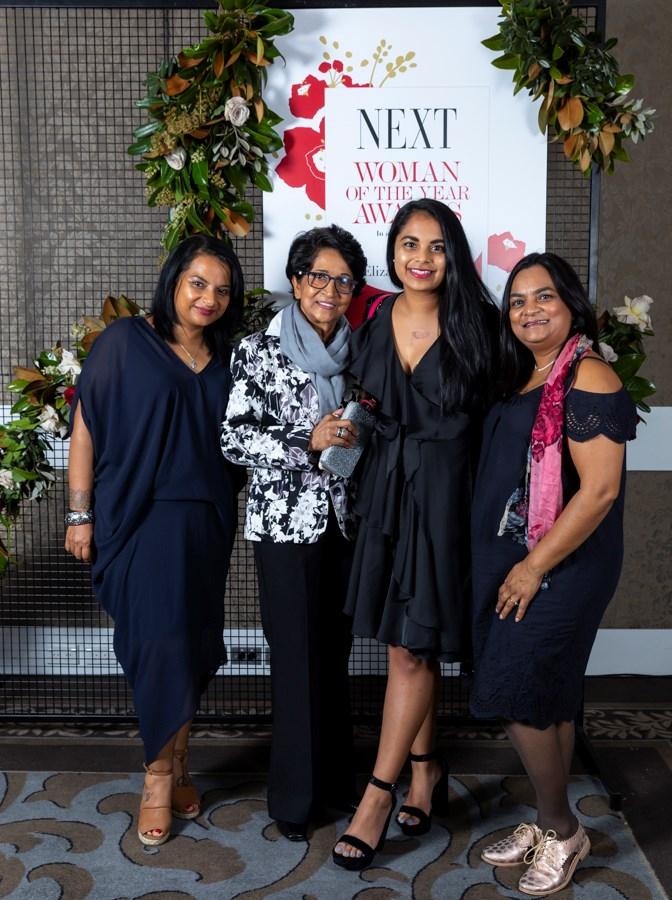 Business & Innovation winner Sharndre Kushor with family.