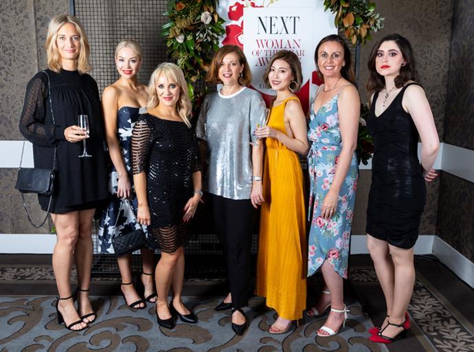 The Elizabeth Arden team, Julie Amen, Rebecca Dieudonne, Lidean Erasmus, Valerie Riley, Maggie He, Tina White, Angela Crumpe.