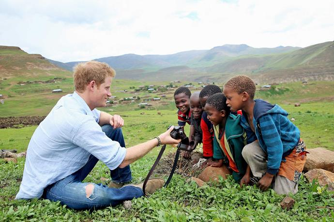 Chris has travelled around the world for his job, including numerous visits to Lesotho with Harry.