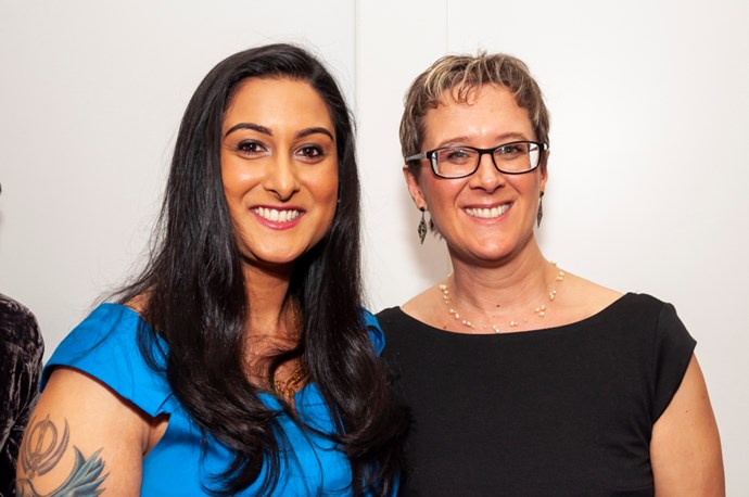 Health & Science finalists Dr Malvindar Singh-Bains and Dr Julia Rucklidge.