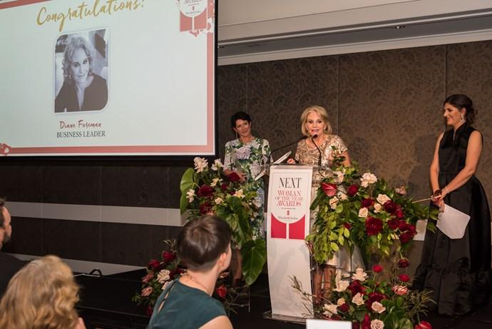 Lifetime Achievement Award winner Diane Foreman.