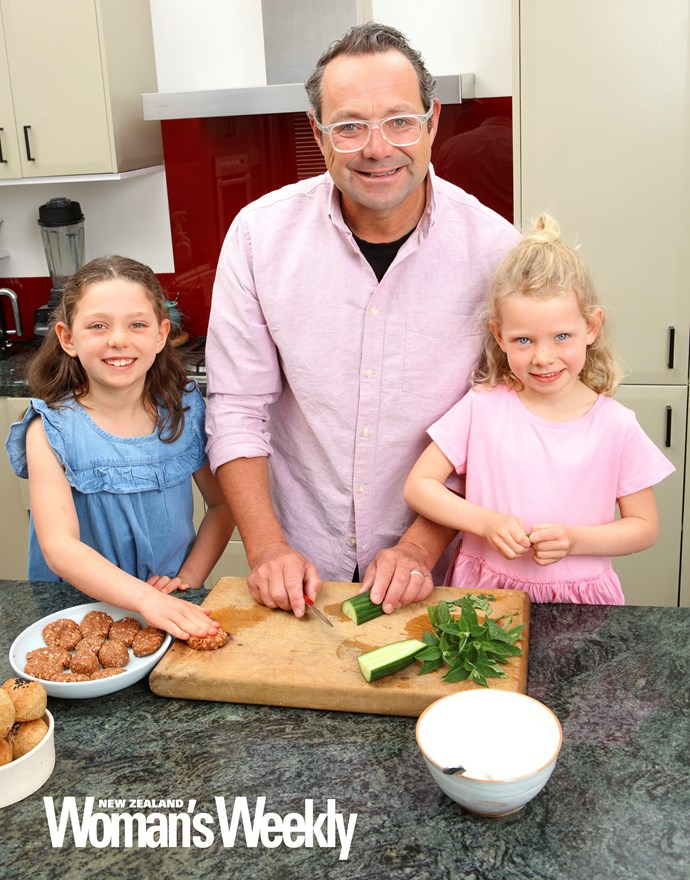 Mike's girls Hazel and Ivy love getting into the kitchen with their dad, who wants other Kiwi kids to step up to the plate too!