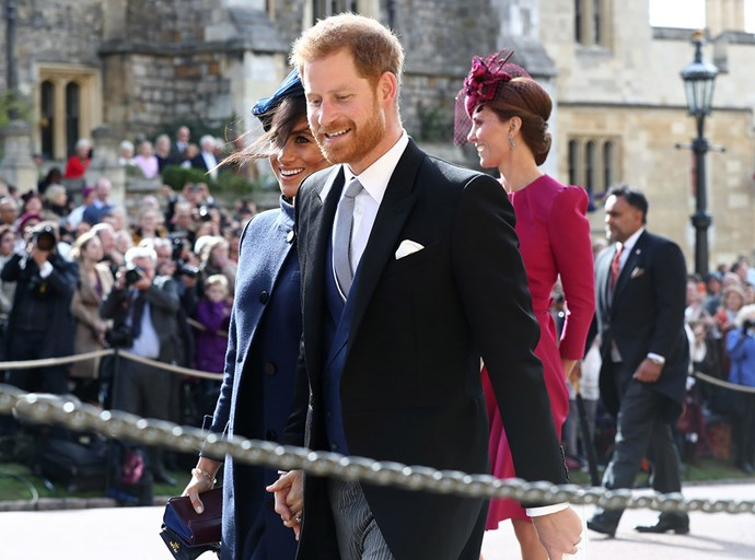 Meghan and Harry attend Princess Beatrice's wedding.