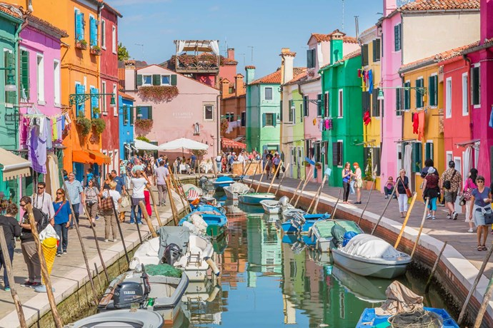 Explore the waterways of Venice and cuddle up with a romantic gondola ride.