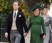 Heavily pregnant Pippa Middleton has been spotted entering Lindo Wing with overnight bags!