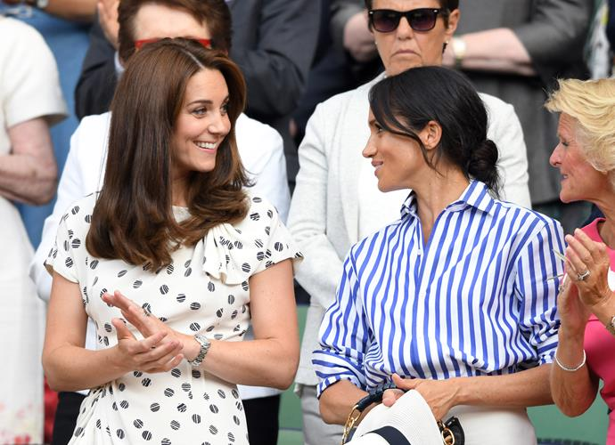 Kate and Meghan attended Wimbledon together this year.